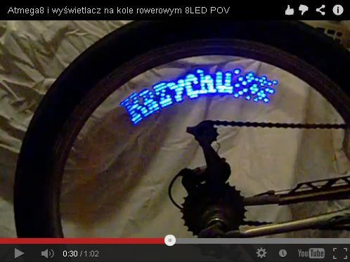 FILM! – Wyświetlacz napisów i grafik na koło rowerowe!